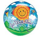 "22"" PKG GET WELL SOON BUBBLE BALLOON"