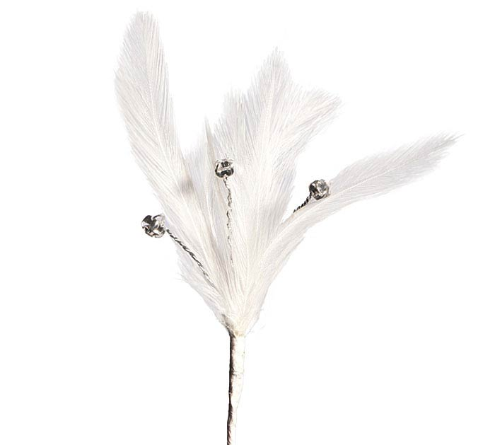 FLORAL WHITE FEATHER