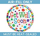"9""FLAT GET WELL SOON BALLOON"