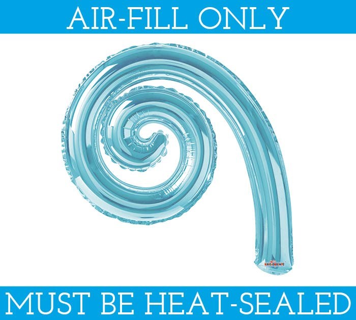 "12""LIGHT BLUE KURLY SPIRAL BALLOON"
