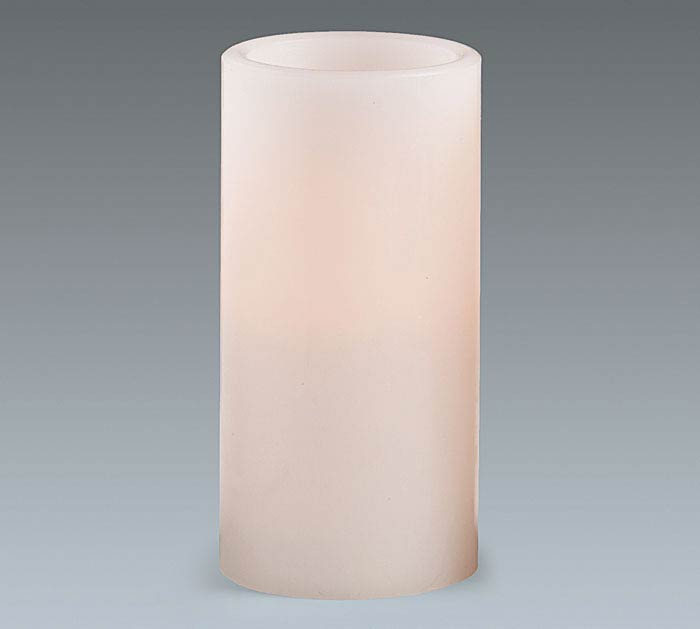 CANDLE LED WHITE 6""