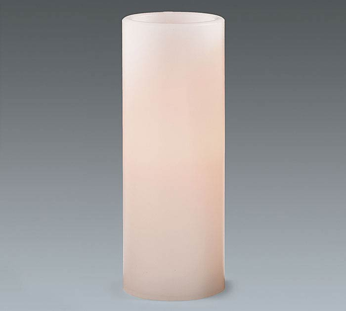 CANDLE LED WHITE 8""