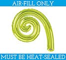 "12""FLAT KIWI KURLY SPIRAL BALLOON"
