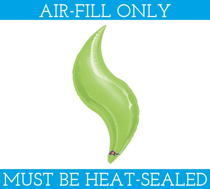 "15""FLAT LIME GREEN CURVE BALLOON"