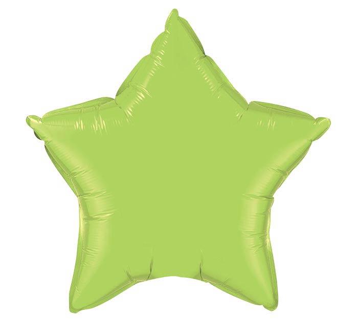 """20"""" LIME STAR SHAPE"""
