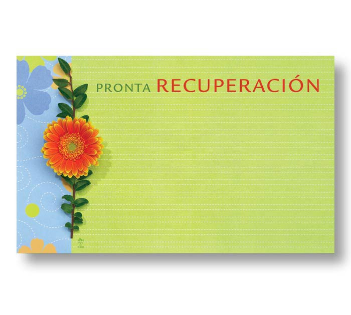 ENCL CARD SPANISH GET WELL SOON DAISY