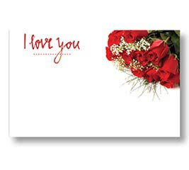 ENCL CARD ILY LOVE N ROSES