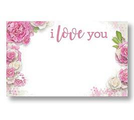 ENCL CARD I LOVE YOU PINK ROSES