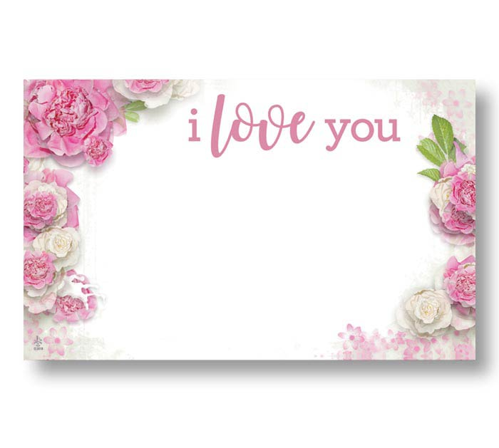 ENCL CARD I LOVE YOU PINK ROSES