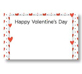 ENCL CARD HVD RED HEARTS