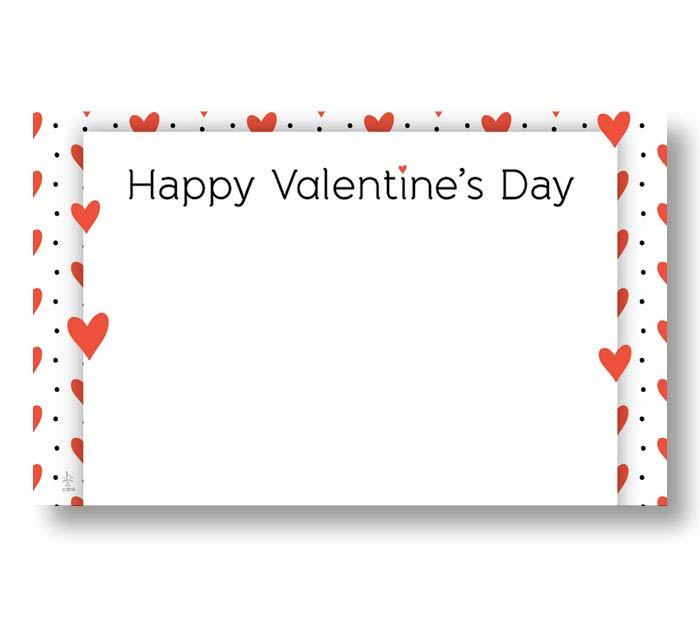 HAPPY VALENTINE'S DAY ENCLOSURE CARD