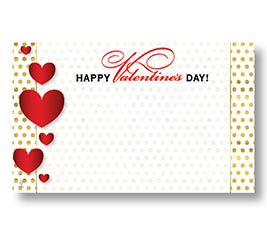 ENCL CARD HVD RED AND GOLD HEARTS