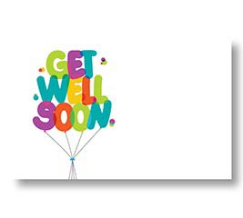 ENCL CARD GET WELL SOON BALLOONS