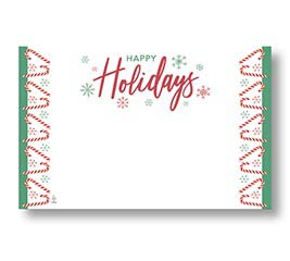 ENCL CARD HAPPY HOLIDAYS CANDY CANES