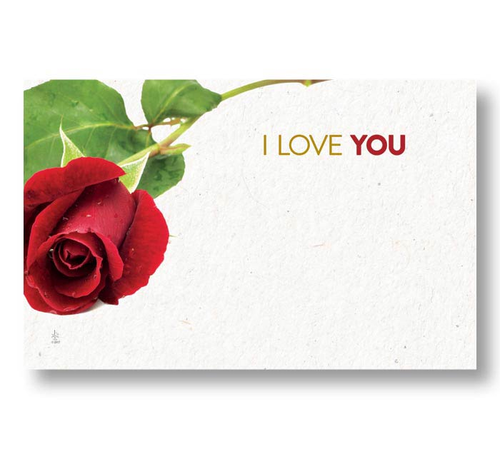 ENCL CARD I LOVE YOU LOVE BLOOMS