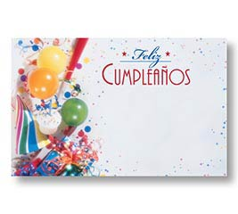 ENCL CARD SPANISH HAPPY BIRTHDAY