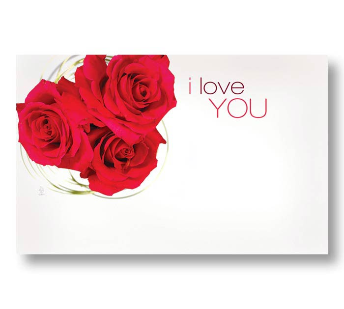 ENCL CARD ILY ROSES
