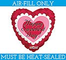 "9""FLAT SWEETEST DAY BALLOON"