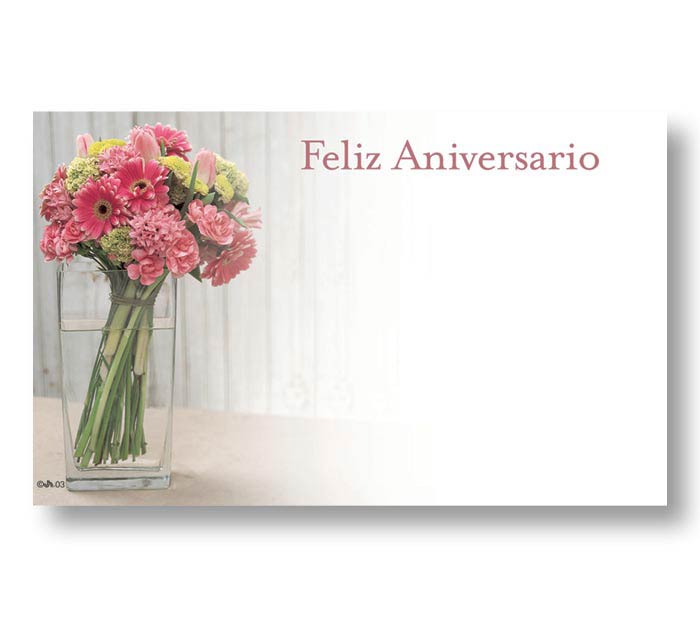 SPANISH ENCLOSURE CARD HAPPY ANNIVERSARY