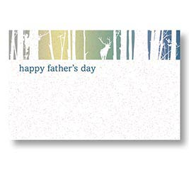 ENCL CARD HAPPY FATHERS DAY DEER IN WOOD