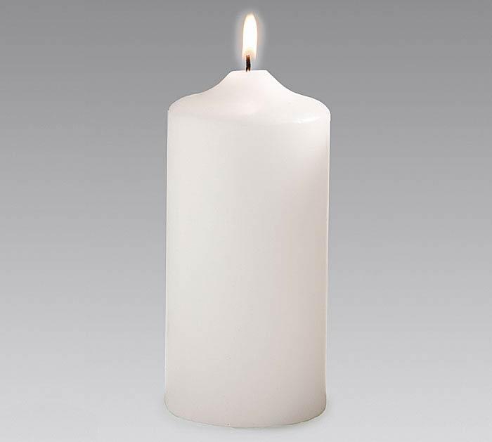 """CANDLE 6"""" WHITE"""