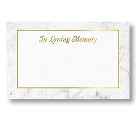 ENCL CARD SYMPATHY MARBLED MEMORIES