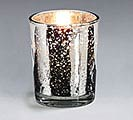 CANDLE WHT 10HR SILVER MERCURY GLASS VOT