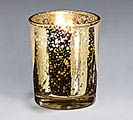 CANDLE WHT 10HR GOLD MERCURY GLASS VOTIV