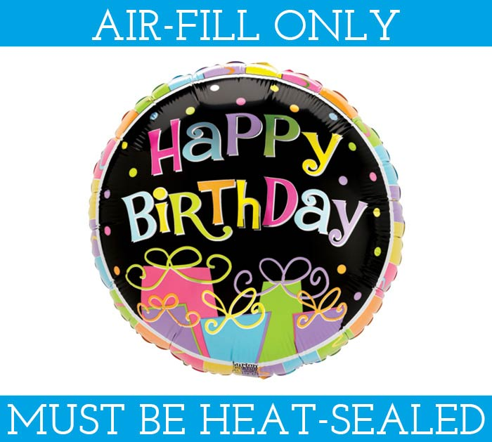 "9""FLAT HAPPY BIRTHDAY BALLOON"