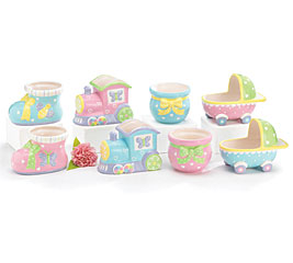 BABY STEPS ASSORTED CERAMIC PLANTER SET