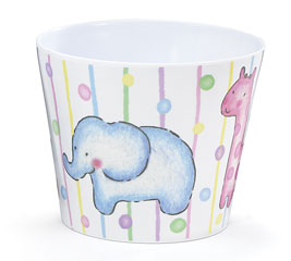 "6"" MELAMINE POTCOVER ANIMAL CRACKERS"