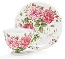 SADDLEBROOKE PORCELAIN TEACUP/SAUCER SET