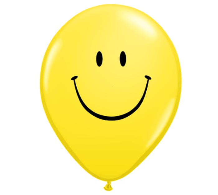 "5""SMILEY FACE LATEX"
