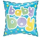 "9""FLAT BABY BOY DOTS"
