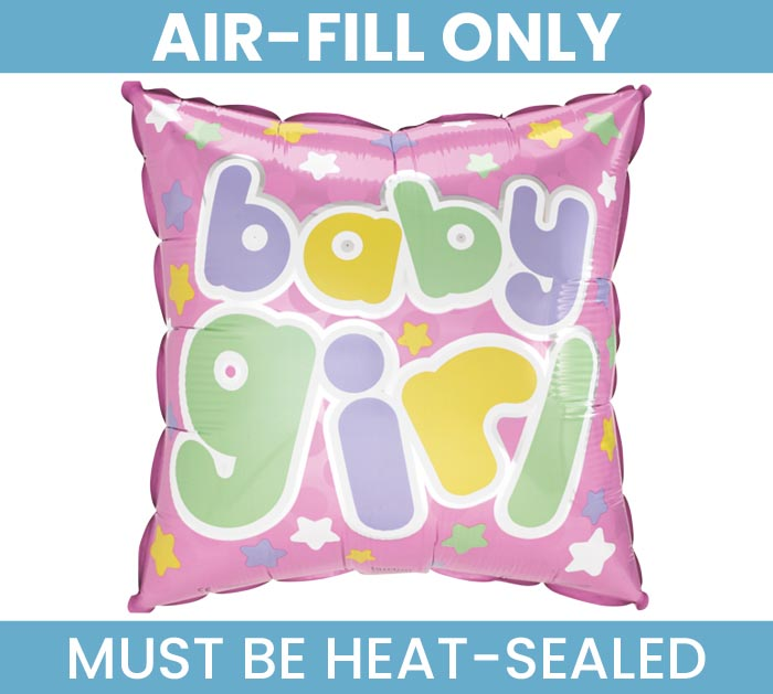 "9""FLAT BABY GIRL MINI SHAPE BALLOON"