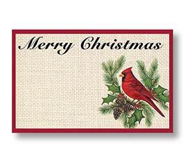 CHRISTMAS CARDINAL ENCLOSURE CARD