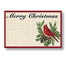 CHRISTMAS CARDINAL ENCLOSURE CARD