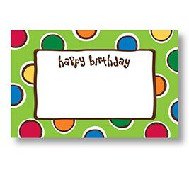 ENCL CARD HAPPY BIRTHDAY DOTS