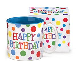 HAPPY BRIGHTS CERAMIC MUG W/ BOX