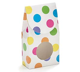 BRIGHT DOTS PAPER CANDY BOX