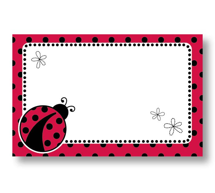 ENCL CARD LADY BUG