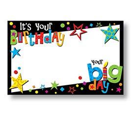 ENCL CARD BIG B'DAY