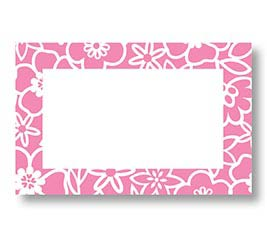 ENCL CARD PINK FLOWE