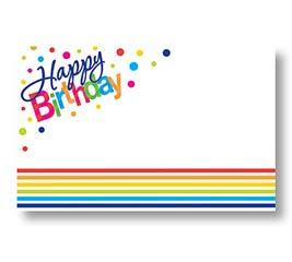ENCL CARD HAPPY BIRTHDAY STRIPES