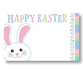 ENCL CARD PASTEL BUNNY HAPPY EASTER