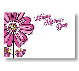 ENCL CARD HMD SKETCHED FLOWERS