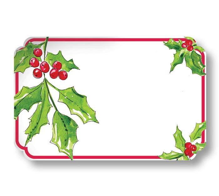 ENCL CARD DECK THE HALLS HOLLY LEAVES