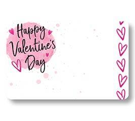 ENCL CARD HVD WATERCOLOR HEARTS