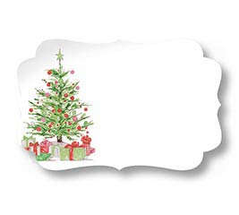 ENCL CARD DECK THE HALLS CHRISTMAS TREE
