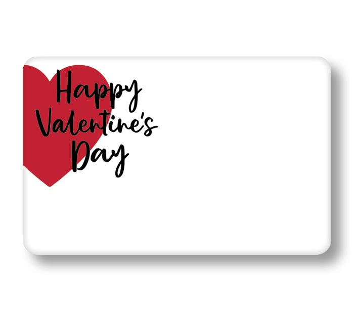 ENCL CARD VALENTINE'S DAY RED HEART